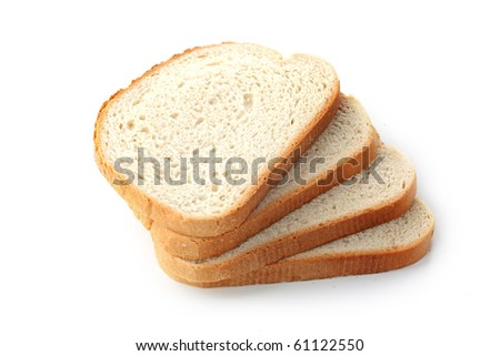 The sliced bread isolated on white background