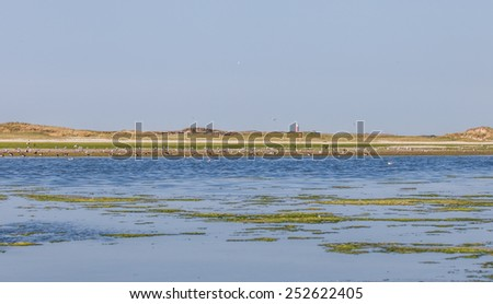 The Slufter, The Dunes of Texel National Park, Netherlands - stock photo