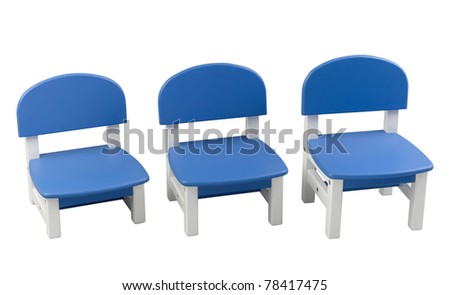 The small blue chairs for child for home use or kindergarten