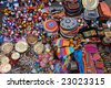 The small goods in the Mexican marketplace. - stock photo