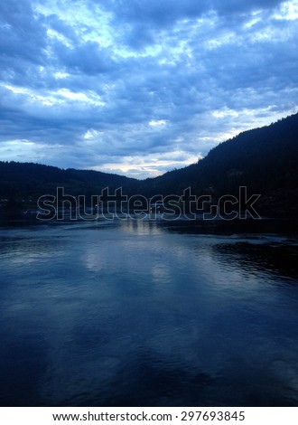 The small town of Campbell River in Seymour Narrow, British Columbia Canada. - stock photo