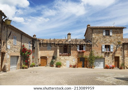 The small town of Murlo in Tuscany, Italy  - stock photo