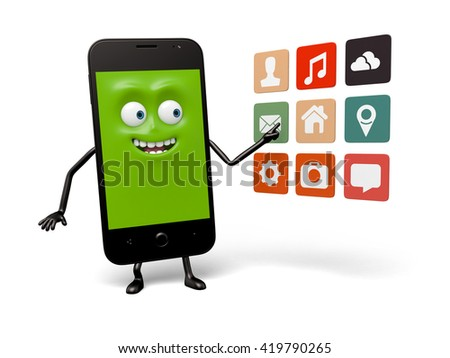 The smartphone and a lot of apps