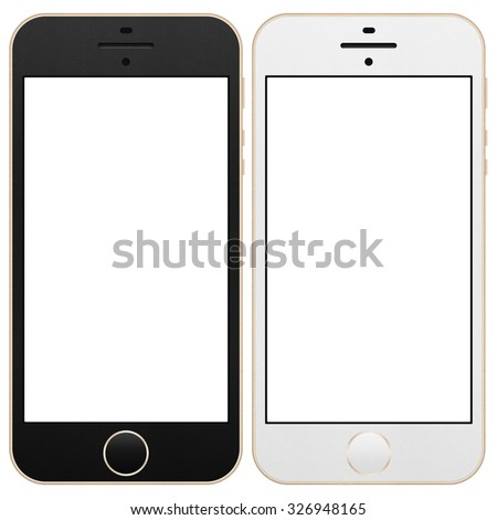 the Smartphone for Social Network in Internet with Digital Technology Mobile of Illustration - stock photo