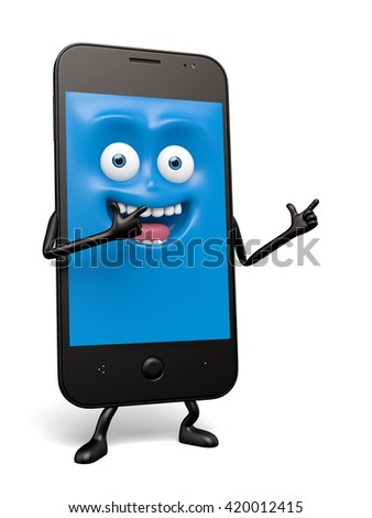 The smartphone pose a personal gesture - stock photo
