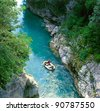 The Soca river, Triglav national park, Slovenia - stock photo