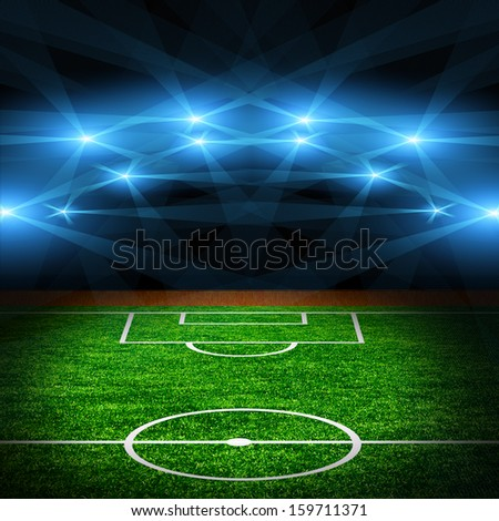 The soccer field. - stock photo