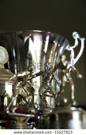 The soccer winners - trophy - stock photo