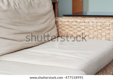 The Sofa Rattan with The Pad