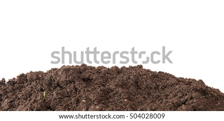 the soil for planting isolated on white background