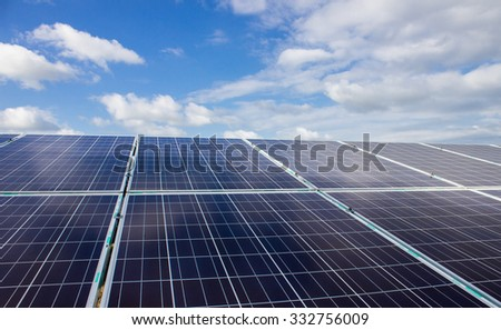 The Solar energy on day light - stock photo