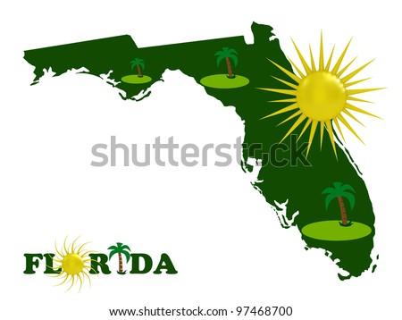 The solar Florida - stock photo
