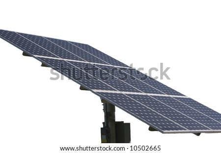 The Solar Panel Array generates clean electrical power from the Sun. - stock photo