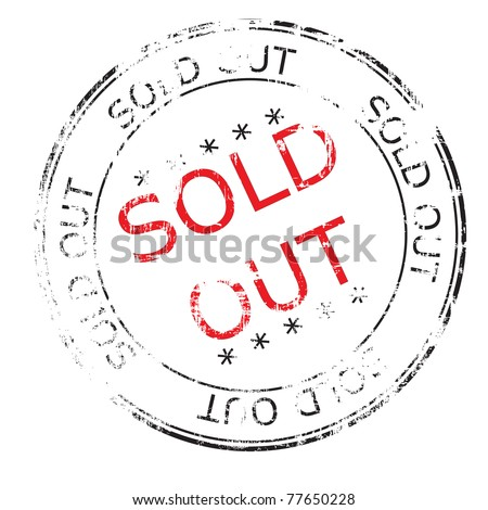 the sold out grunge stamp vector illustration - stock photo
