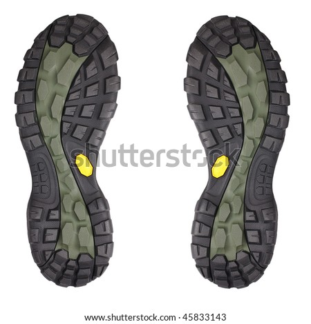 the sole of sport shoe - stock photo