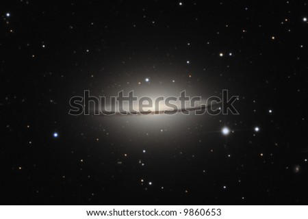 The Sombrero Galaxy M104 - stock photo