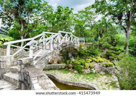 The Soroa Orchid Botanical Garden in western Cuba - stock photo