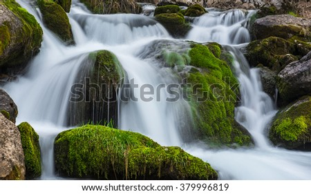 the sound of water and peace - stock photo
