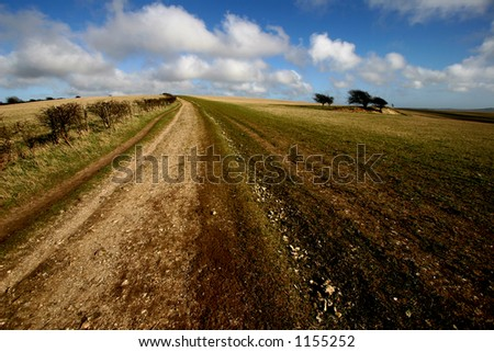 The South Downs Way, Sussex - stock photo