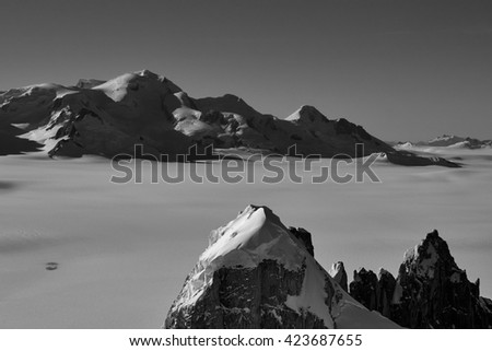 The Southern Patagonian Ice Field - stock photo