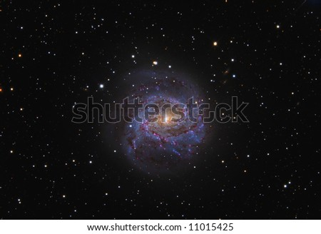 The Southern Pinwheel Galaxy M83 - stock photo