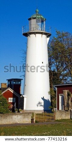 The southernmost lighthouse in Sweden - stock photo