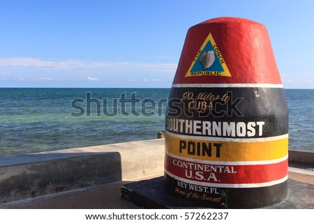 The southernmost point of United States - stock photo