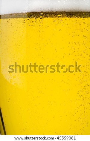 the sparkling beer - stock photo
