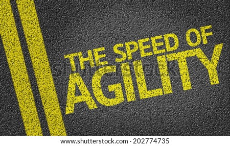 The Speed of Agility written on the road - stock photo
