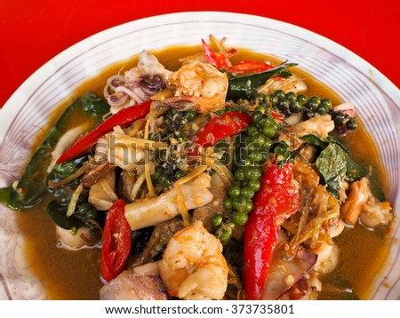 The spice fried seafood, a sacrificial offering in Chinese New Year.