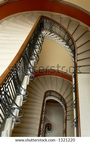 The spiral staircase with a unique shape. More with keyword Series002.