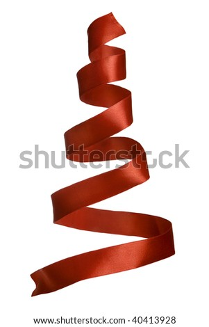 The spiral tape looks as christmas tree - stock photo