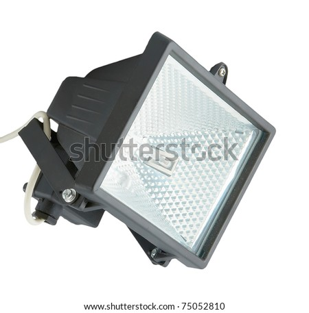 The spotlight isolated on a white background - stock photo