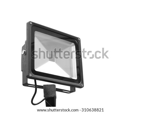 The spotlight isolated on a white background, clipping path. - stock photo