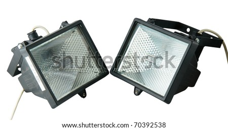 The spotlights isolated on a white background - stock photo