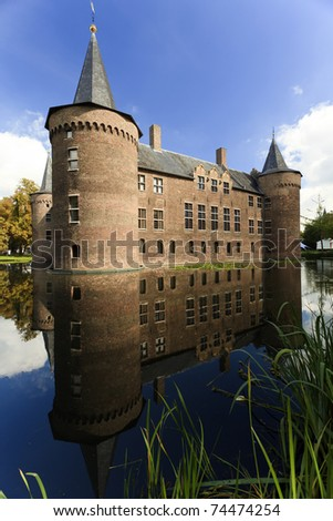 The square moated castle in reflection