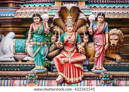 The Sri Mariamman Temple is Singapore's oldest Hindu temple.  - stock photo