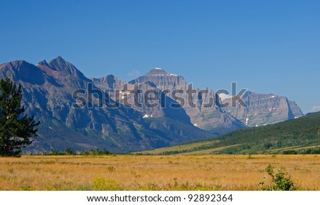 The St Mary Valley in Glacier National Park in Montana - stock photo