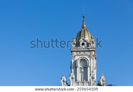 The St. Stephen Bulgarian Orthodox Church in the Golden Horn, made of cast iron, Istanbul - stock photo