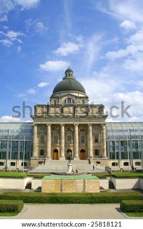the Staatskanzlei in Munich, Germany - stock photo