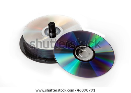 The stack of CD cases - stock photo