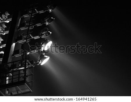 The Stadium Spot-light tower (darck background)