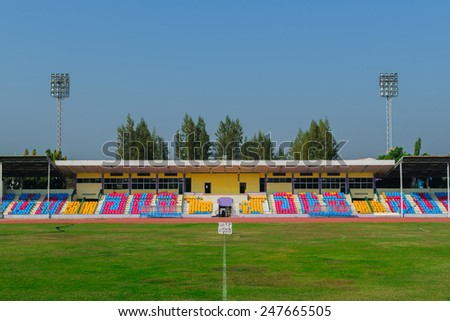 The stadium will be updated,football field in Thailand - stock photo