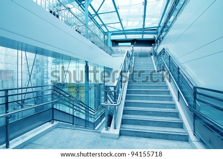 the stairs in new modern building - stock photo
