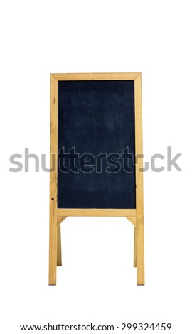 The stand chalk board on a white background - stock photo