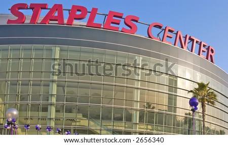 the staples center - stock photo