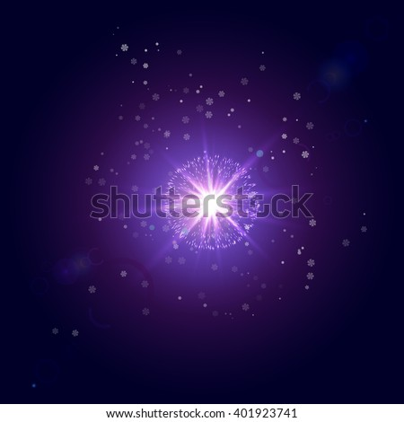 The star in the winter sky - stock photo