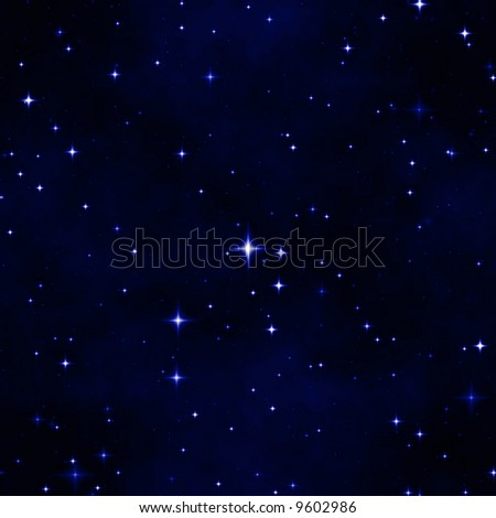the star night sky, abstract cosmic background - stock photo