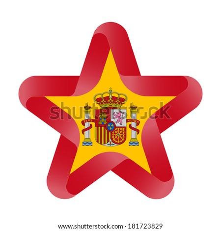 Spanish Flag On Abstract Wing White Stock Illustration ...