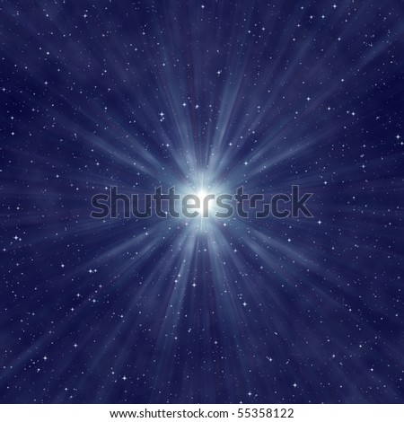 the starry night sky, abstract cosmic background - stock photo